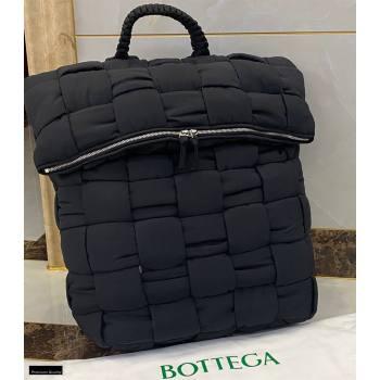 Bottega Veneta Fold-top THE PADDED BACKPACK Bag in Nylon Black 2021 (misu-21012310)