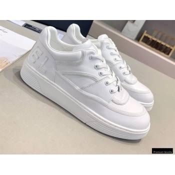 Chanel Back Logo Sneakers White 2021 (modeng-21012609)