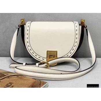 Fendi Leather Moonlight Shoulder Bag White 2021 (chaoliu-21013015)