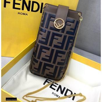 Fendi Phone Pouch Bag Brown with Detachable Strap 2021 (chaoliu-21020113)