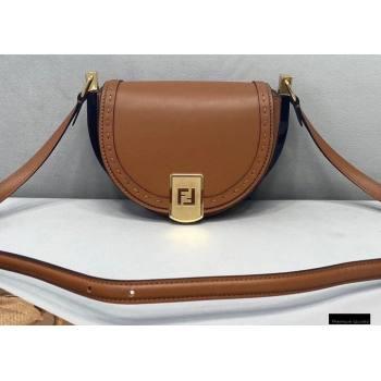 Fendi Leather Moonlight Shoulder Bag Brown 2021 (chaoliu-21013013)