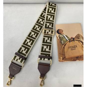 Fendi Ribbon Long Shoulder Strap You Coffee/Beige 2021 (chaoliu-21020121)