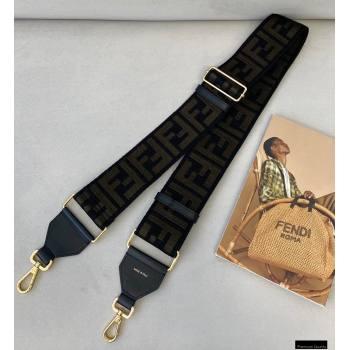 Fendi Ribbon Long Shoulder Strap You Black 2021 (chaoliu-21020118)