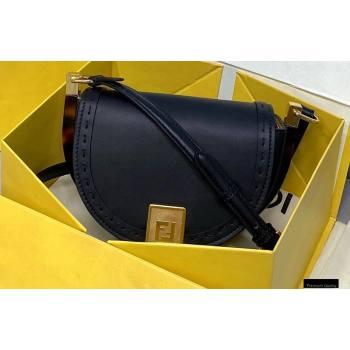 Fendi Leather Moonlight Shoulder Bag Black 2021 (chaoliu-21013012)