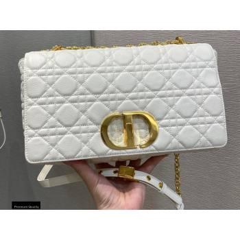 Dior Large Caro Bag in Soft Cannage Calfskin White 2021 (vivi-21022015)