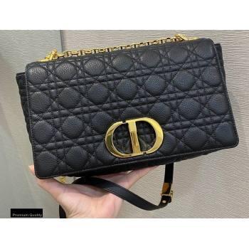 Dior Large Caro Bag in Soft Cannage Calfskin Black 2021 (vivi-21022014)