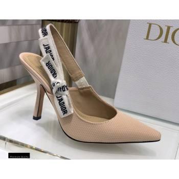 Dior Heel 9.5cm JAdior Slingback Pumps Technical Fabric Nude 2021 (jincheng-21022513)