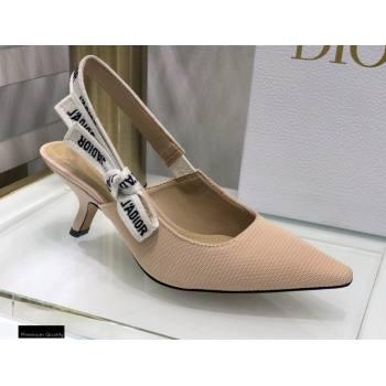 Dior Heel 6.5cm JAdior Slingback Pumps Technical Fabric Nude 2021 (jincheng-21022514)
