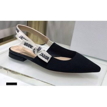 Dior JAdior Slingback Ballerina Flats Technical Fabric Black 2021 (jincheng-21022512)