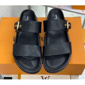 Louis Vuitton Paseo Flat Comfort Mules Black 2021 (modeng-21030472)