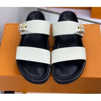 Louis Vuitton Paseo Flat Comfort Mules White 2021 (modeng-21030473)