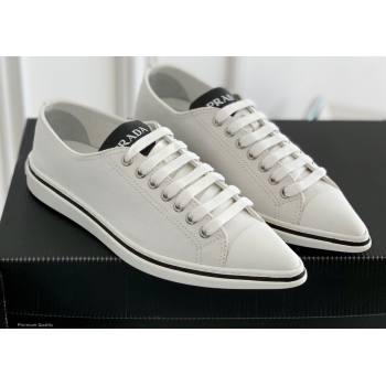 Prada Logo Canvas Sneakers White 2021 (nono-21030413)