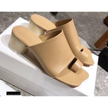 Maison Margiela MM6 Leather Thong Mules Apricot 2021 (modeng-21030422)