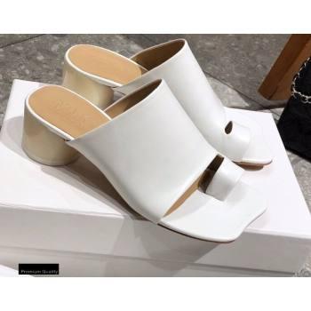 Maison Margiela MM6 Leather Thong Mules White 2021 (modeng-21030421)