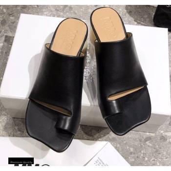 Maison Margiela MM6 Leather Thong Mules Black 2021 (modeng-21030420)