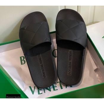 Bottega Veneta The SLIDER Rubber Slides Sandals Black 2021 (modeng-21030201)