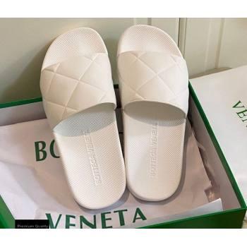 Bottega Veneta The SLIDER Rubber Slides Sandals White 2021 (modeng-21030202)