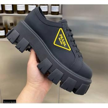 Prada Platform Logo Gabardine Sneakers 05 2021 (modeng-21030405)