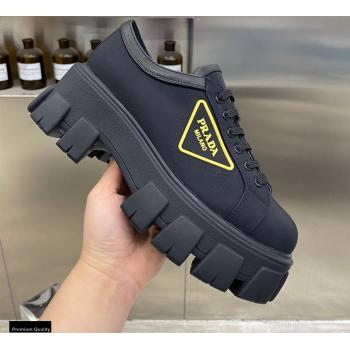 Prada Platform Logo Gabardine Sneakers 06 2021 (modeng-21030406)