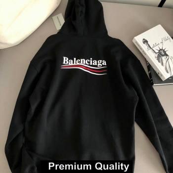 balenciaga logo printed hooded sweatshirt black 2020 (qiqi-5637)