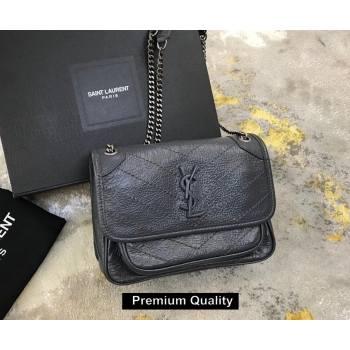 Saint Laurent Niki Baby Bag in Vintage Leather 533037 Ardoise (yida-6810)