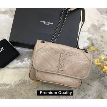 Saint Laurent Niki Baby Bag in Vintage Leather 533037 nude (yida-1325)