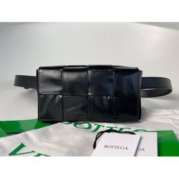 Bottega Veneta wax calfskin The Belt Cassette Bag black (misu-210226-02)