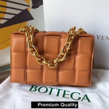 Bottega Veneta THE CHAIN CASSETTE shoulder bag camel/gold 2020 (wante-6268)