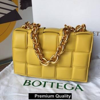 Bottega Veneta THE CHAIN CASSETTE shoulder bag yellow/gold 2020 (wante-6923)