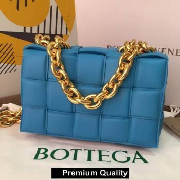 Bottega Veneta THE CHAIN CASSETTE shoulder bag Blue Izmir 2020 (wante-5864)