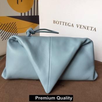 Bottega Veneta Angular clutch bag with triangular fold ice blue 2020 (misu-5120)