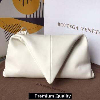 Bottega Veneta Angular clutch bag with triangular fold white 2020 (wante-5637)
