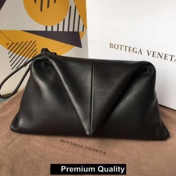 Bottega Veneta Angular clutch bag with triangular fold black 2020 (wante-1493)