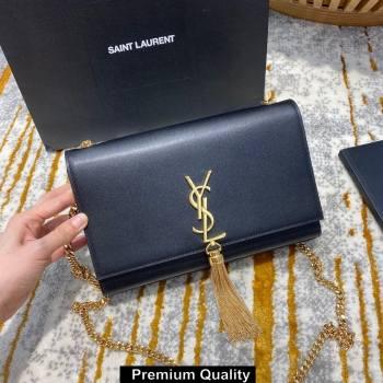 saint laurent Kate chain wallet with tassel in smooth calfskin 354119 BLACK/gold (jundu-3781)