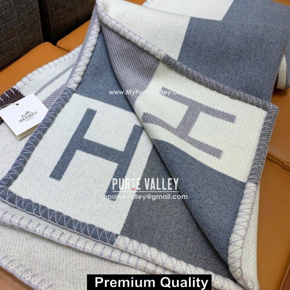Hermes Avalon H Throw cashmere Blanket 07 (jijiqing-5091)
