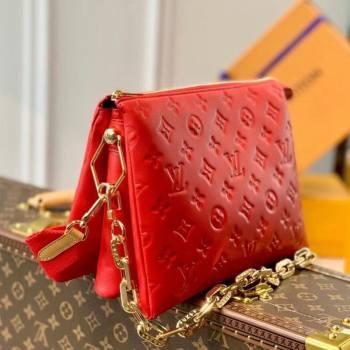 Louis Vuitton Coussin PM Bag in Monogram Leather M57792 Red 2021 (KI-21031740)
