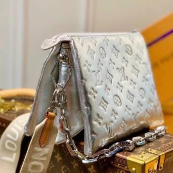 Louis Vuitton Coussin PM Bag in Monogram Leather M57913 Silver 2021 (KI-21031741)