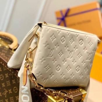 Louis Vuitton Coussin PM Bag in Monogram Leather M57793 Cream White 2021 (KI-21031742)