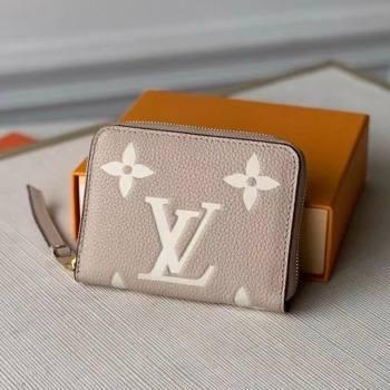 Louis Vuitton Zippy Coin Purse Wallet in Giant Monogram Leather M69797 Grey 2021 (KI-21031752)