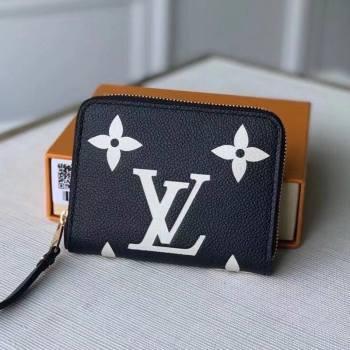 Louis Vuitton Zippy Coin Purse Wallet in Giant Monogram Leather M69787 Black 2021 (KI-21031753)