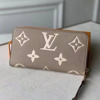 Louis Vuitton Zippy Wallet in Giant Monogram Leather M69794 Grey 2021 (KI-21031754)