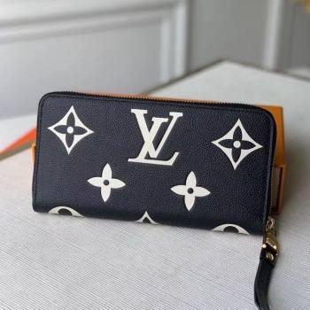 Louis Vuitton Zippy Wallet in Giant Monogram Leather M80481 Black 2021 (KI-21031755)