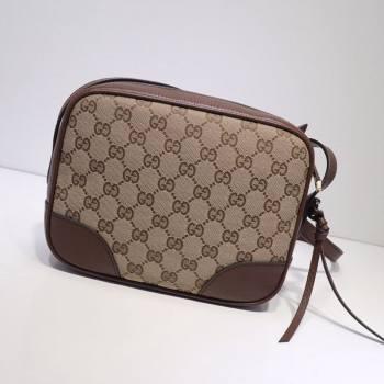 Gucci GG Canvas Camera Bag 387360 Dark Brown 2021 (DLH-21031829)