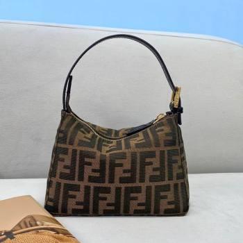 Fendi Mini FF Hobo Bag Brown 2020 (AFEI-20123102)