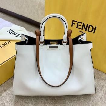 Fendi Large Peekaboo X-Tote Bag White 2021 (AFEI-21031903)