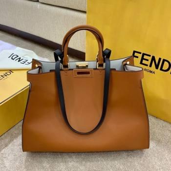 Fendi Large Peekaboo X-Tote Bag Brown 2021 (AFEI-21031904)