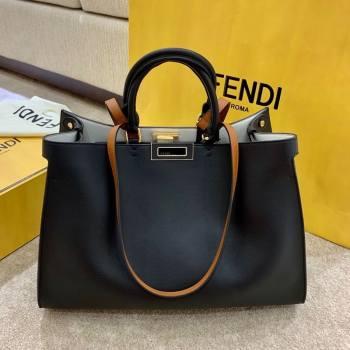 Fendi Large Peekaboo X-Tote Bag Black 2021 (AFEI-21031905)