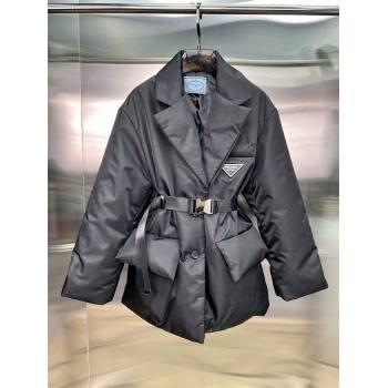 Prada Re-Nylon Down Jacket PJ141 Black 2021 (Q-210914057)