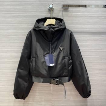 Prada Re-Nylon Down Jacket PJ142 Black 2021 (Q-210914058)