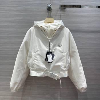 Prada Re-Nylon Down Jacket PJ143 White 2021 (Q-210914059)